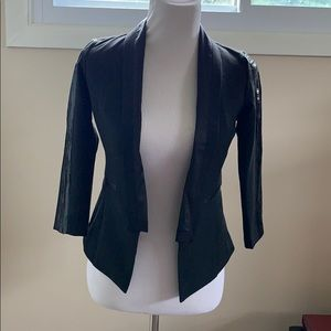 Black jacket with sequin sleeves size XS